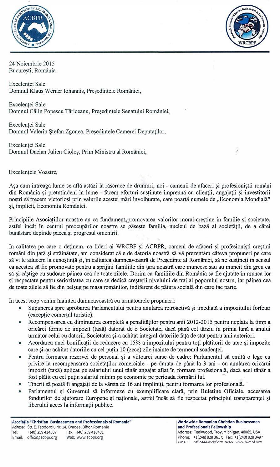 Scrisoare deschisa - 24 Noiembrie 2015 Bucuresti, Romania_Page_1